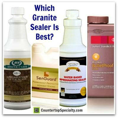 Granite Sealer Review: durability, quality, brand comparison and choices for sealing granite, marble and natural stone countertops and floor tile. http://www.countertopspecialty.com/which-granite-sealer-to-use.html