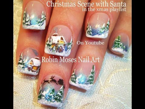 62 best winter nail art designs and tutorials images on pinterest christmas nail art winter wonderland holiday nails xmas design tutorial http prinsesfo Image collections