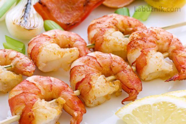 Česnekové krevety