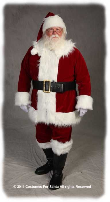 Deluxe Traditional Santa Suit - Costumes For Santa