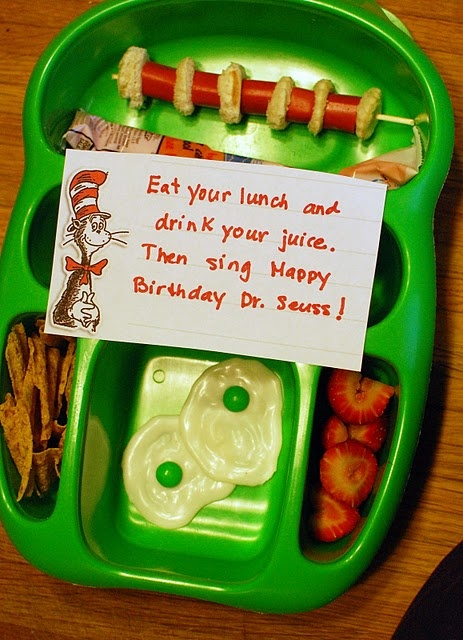 "Dr. Seuss Lunch = could change to Happy Birthday ""Camdan"" and Dr. Seuss!