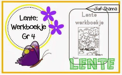 lente werkboekje voor groep 4