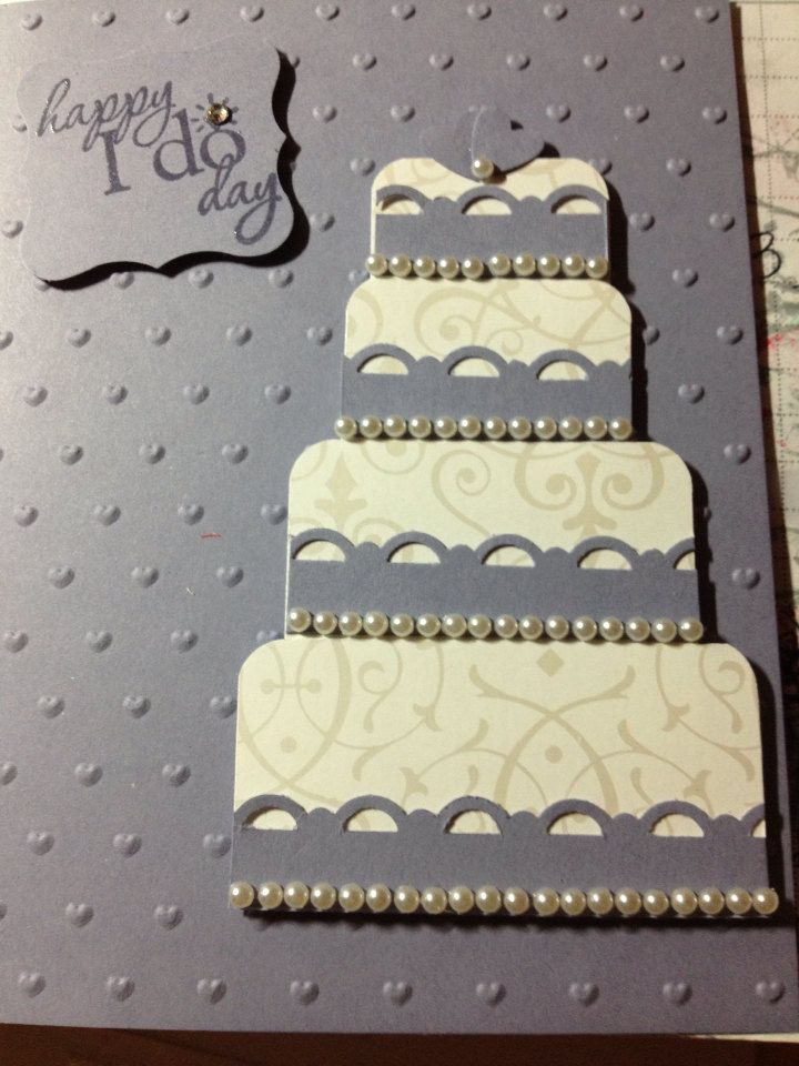 Handmade Wedding Card.  by babs808 on Etsy, $6.50