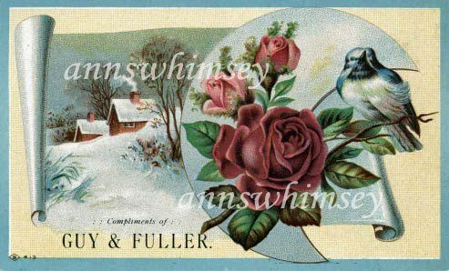 1800s Trade Card Guy & Fuller Meriden Connecticut #123