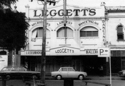 The long gone Leggett's Ballroom in Greville Street, Prahran Melbourne Victoria Australia