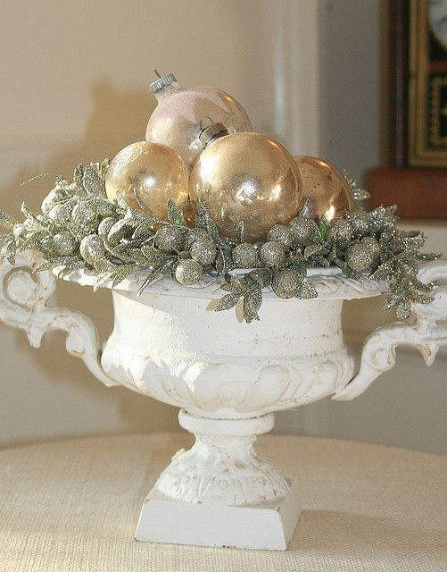gold ornament urn