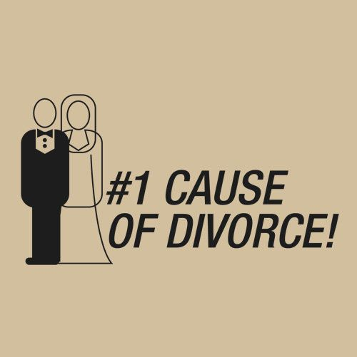 #1 cause of divorce!: Die Tomorrow, Divorce Parties, Clever Humour