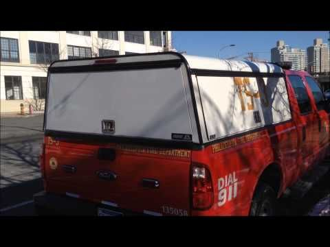 PHILADELPHIA FIRE DEPARTMENT TECHNICAL UNIT TS-3 SITTING OUTSIDE HEADQUARTERS IN DOWNTOWN, PHILLY. - YouTube