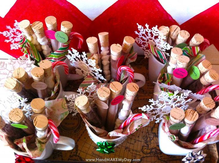 cadeau maison éprouvettes chocolat chaud