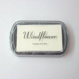 Inkoustový polštářek Windflower / Bílý