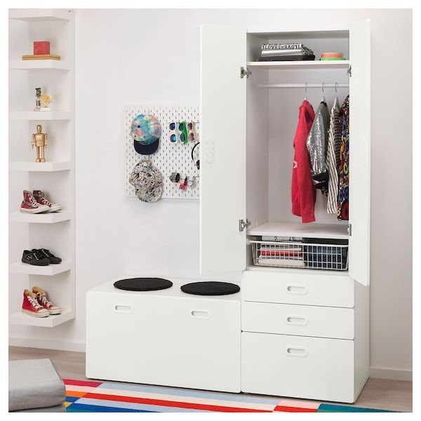 Stuva Fritids Armoire Avec Banc Coffre Blanc Blanc Ikea Coffre Blanc Banc De Rangement Banc Coffre