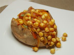 The GI Diet - Low Fat Saucy Chickpeas and Sweet Potato Recipe