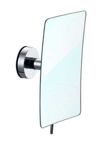 "Suction Cup Magnified Mirror Chrome Finish by Janisloft. $65.99. Suction cup magnified mirror. Install in 3 seconds on any smooth flat surface, no tool required. Mirroe size 9.25""x5"". Made of stainless steel material with all polish chrome finish. By Awooden, the leader in Multi-function Suction Shelving System, the patented design suction system   let you install the unit in 3 second on any smooth surface without using any tool, stainless steel. available in  Chrom..."