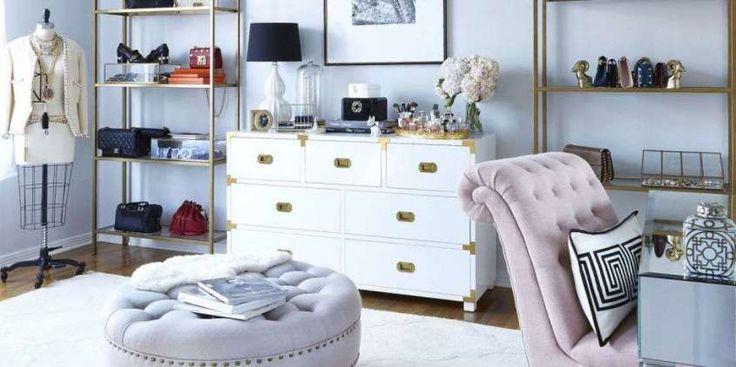 Camera da letto in stile parigino - Zona ufficio glamour