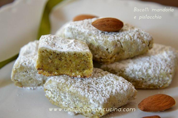 Almond and pistachio cookies - Biscotti mandorla e pistacchio