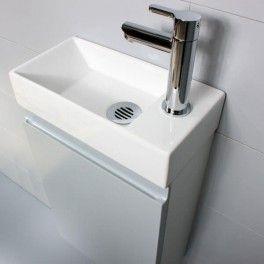 petit lave mains petite profondeur 35 cm avec meuble pour le rangement 7 finitions aux. Black Bedroom Furniture Sets. Home Design Ideas