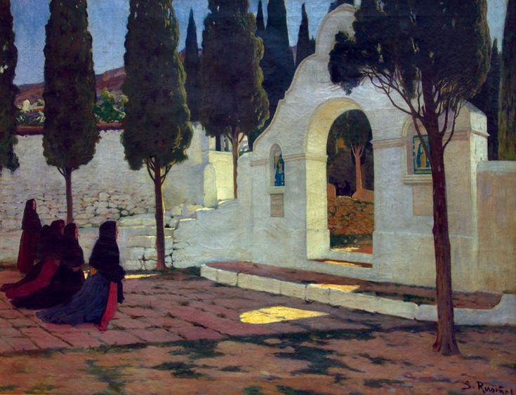 Santiago Rusiñol Prats - Calvario de Sagunto,1910