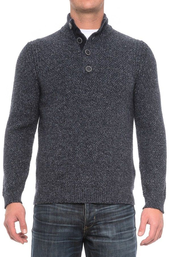 Immagini Button-Neck Marled Sweater (For Men)