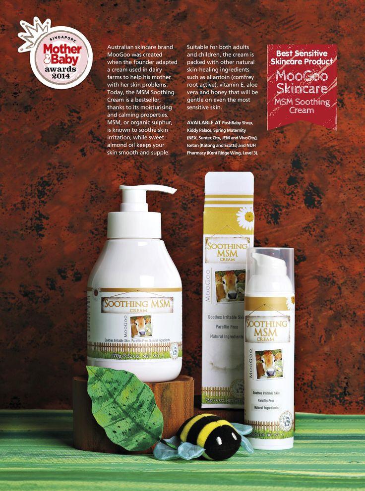 Best Sensitive Skincare Product: MooGoo Skincare - MSM Soothing Cream