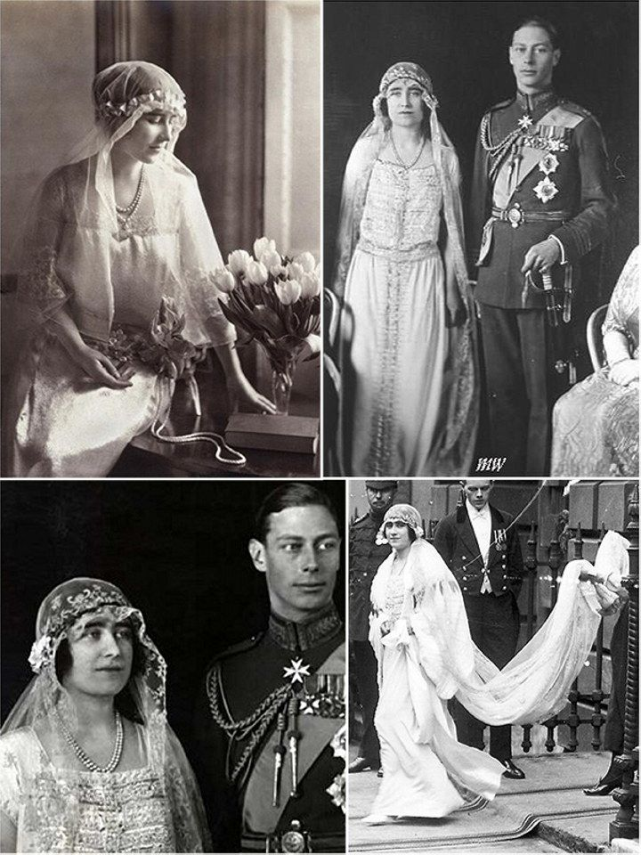 The marriage of Lady Elizabeth Bowes-Lyons (Later the Queen Mother) to the Duke of York (Later King George VI) at Westminster Abbey in London, on 26th April, 1923. It was the first royal wedding at the Abbey since 1383. The newly formed British Broadcasting Company wanted to record and broadcast the event on radio, but the Abbey Chapter vetoed the idea.