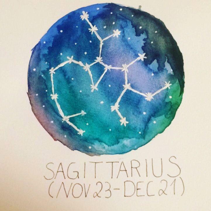 Selfmade Sagittarius Sternzeichen Schütze von Louisa Marie Mohr #aquarell #sagittarius