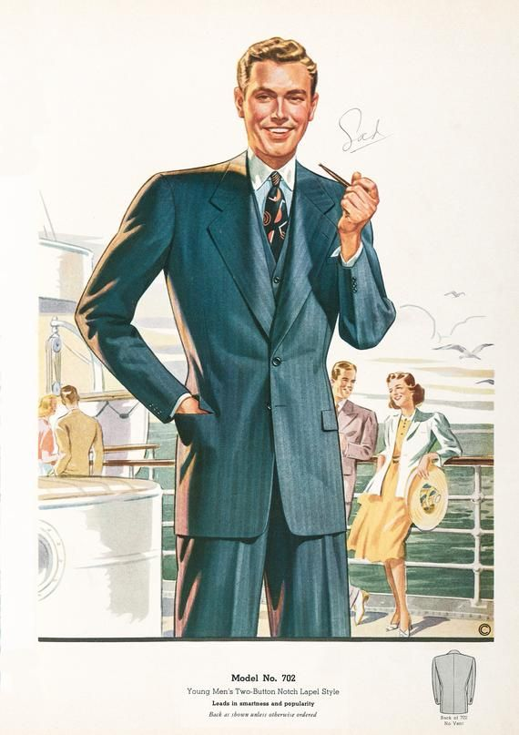 Restored Vintage Fashion Illustration Prints 1940s 1950s Styles Classic Fashion Mag Vintage Mens Fashion Fashion Illustration Vintage Mens Fashion Magazine