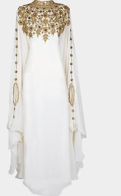 BRIDAL KAFTAN MODERN JILBAB ARABIAN ISLAMIC GOWN DESIGN DRESS VAR 4519