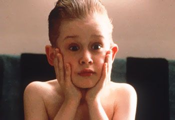 Home Alone the Original. I always did this in the mirrior after seeing the movie.