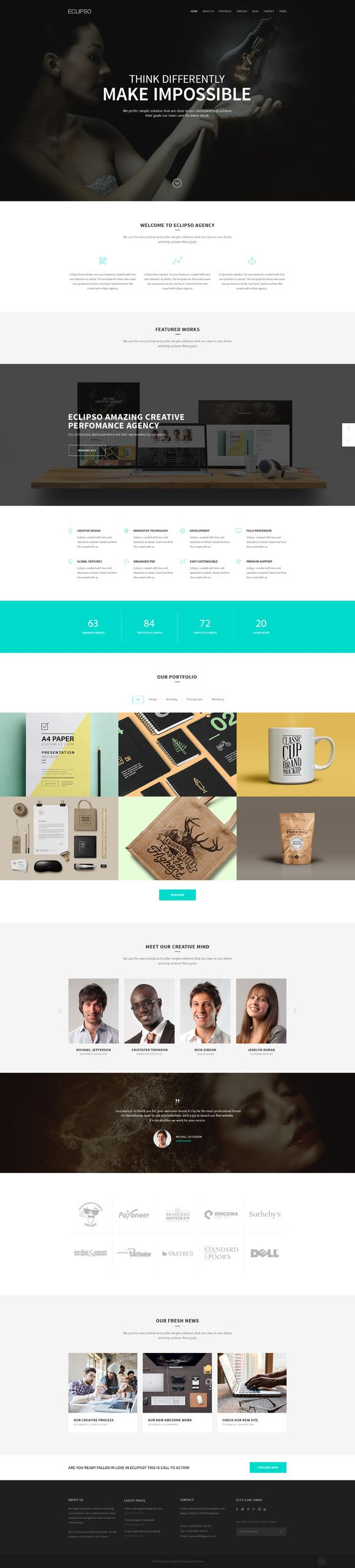 Check out Eclipso - Creative Agency by Romaximus on Creative Market