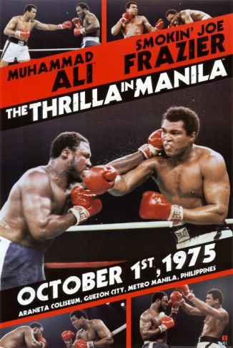 Muhammad Ali vs Joe Frazier - 'Thrilla in Manila' - http://www.voteupimages.com/muhammad-ali-vs-joe-frazier/