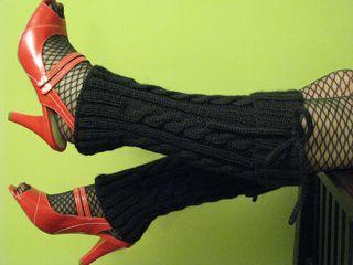 Hot Gams! Legwarmers pattern by Jenni Pea
