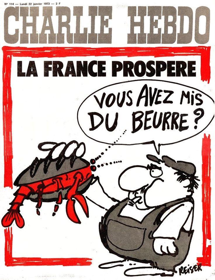 Charlie Hebdo - # 114 - 22 Janvier 1973 - Couverture : Reiser