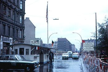 Checkpoint Charlie - saw it in the 1960's, when we visited West Berlin with our Girl Scout Troop