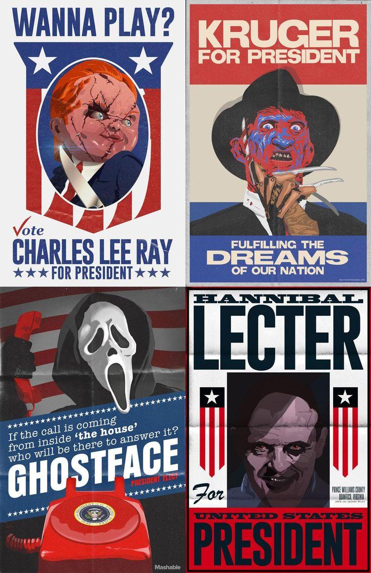 If horror movie villains were running for president