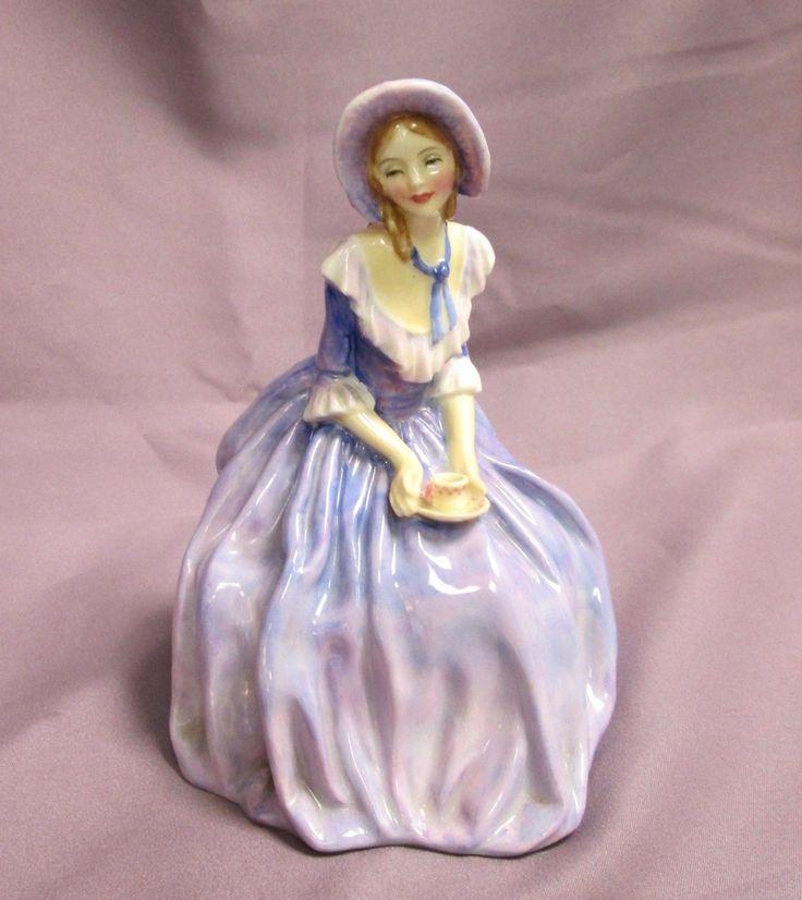 Vintage Royal Doulton Porcelain Lady Figurine 4 O Clock W