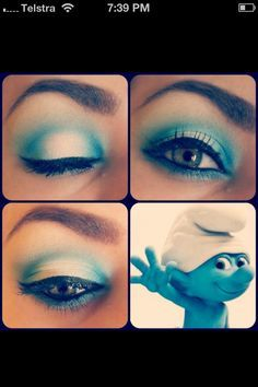 Blue smoky eye #smurfs #makeup