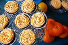 muffins med choklad och apelsinfrosting