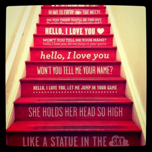 make you say wowza red stairs doors stairs basement stairs basement