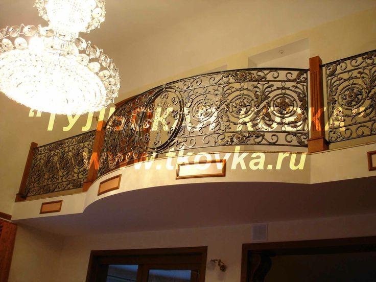 Кованые перила. Wrought iron spiral railings