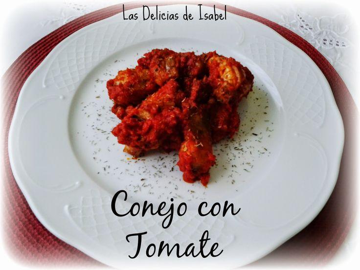 Conejo con tomate del blog Las Delicias de Isabel