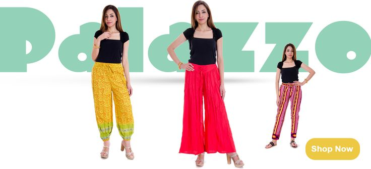 Buy Latest Palazzo Pants Online at Low Prices - gergstore.com