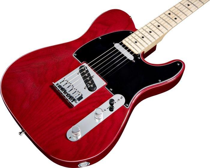 Fender American Deluxe Telecaster Ash Electric Guitar Wine Transparent