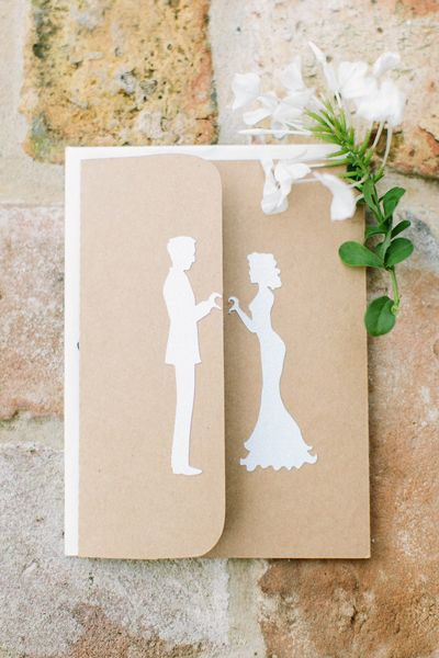 silhouette wedding invitation | Mustard Seed Photography