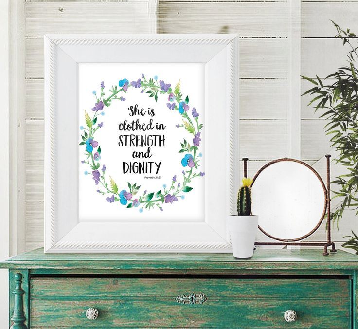 Scripture Quote Print - Bible Verse Print - Bible Verse Art - Inspirational Quote - Religious Quote - Instant Download - Christian Art by SmudgeCreativeDesign on Etsy