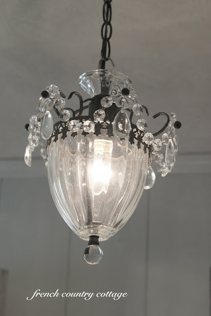 pendant light #lowescreator: Lights Lowescr, Hanging Lights, Decor Ideas, Chandelier, Lights Fixtures, French Country Cottages, Shabby Chic, Pendants Lights, Kitchens Sinks