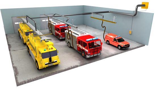 Diesel exhaust extraction system source capture.  http://goo.gl/eZVC8U