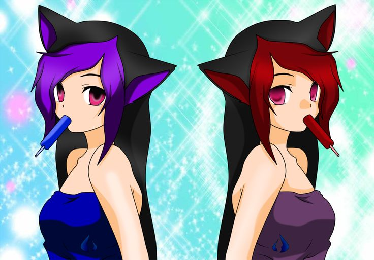 Tyma (left) and Hikari (right) Akera. They are also known as The Cursed Twins because once they were born they started a long war.