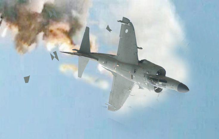 Sea Harrier Derribado con 7 Disparos - Guerra de las Malvinas