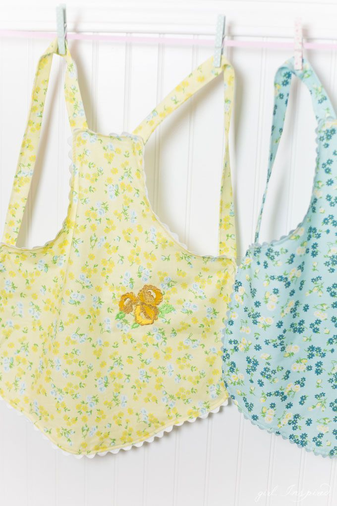 Children's Charming Apron Pattern by Girl Inspired using Dainty Darling from Riley Blake Designs