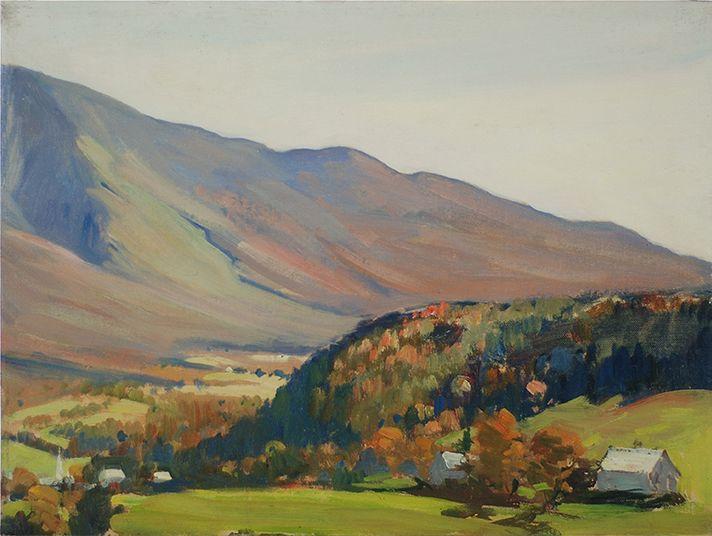 """Oil on Canvasboard 12"""" x 16"""" Mt. Mansfield, Vermont Charles Curtis Allen $1500"""